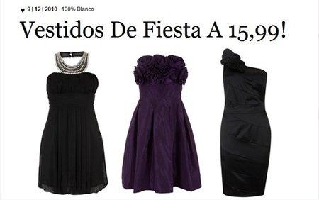 Vestidos de fiesta en Blanco a 15,99 euros