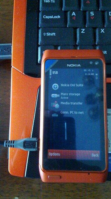 Foto de Nokia N8 naranja, batería (8/9)