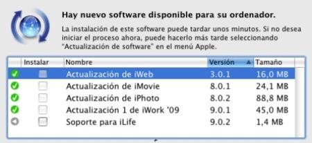 Apple lanza una serie de actualizaciones de iLife'09 e iWork'09
