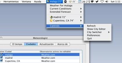 Meteorologist, visualiza el estado del tiempo de diferentes localizaciones