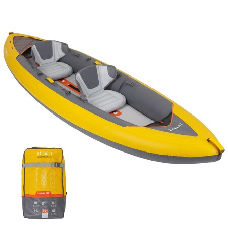 Kayak Canoa Hinchable Travesia X100 Drop Stitch Fondo Alta Presion 2 Plazas