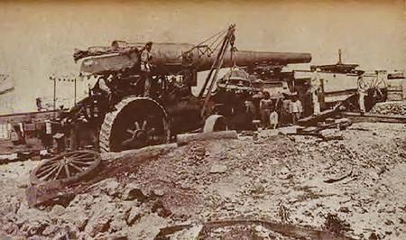 Locomotora caminera Aveling and Porter del Ejército español