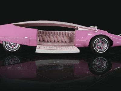 El coche de la Pantera Rosa, como nunca lo habías visto: restaurado y mostrando sus encantos, en rosa