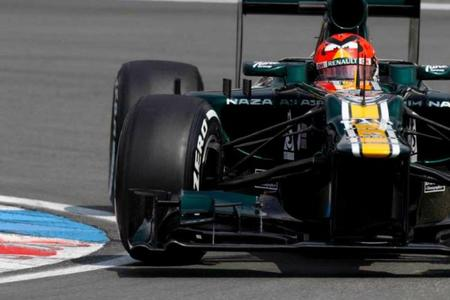 Caterham sancionada por su incidente en el pit-lane