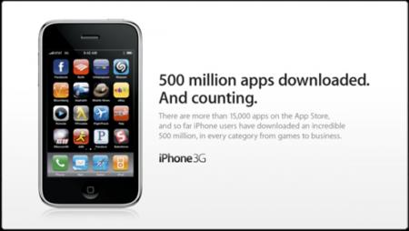 500 millones de aplicaciones para el iPhone descargadas
