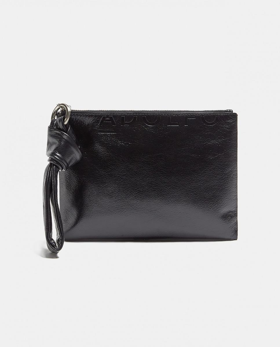 Bolso de mano de mujer de Adolfo Dominguez piel negro