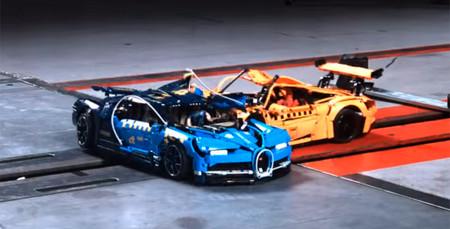 Este crash-test entre el Chiron y el 911 GT3 RS de LEGO Technic muestra la importancia de las pruebas de choque