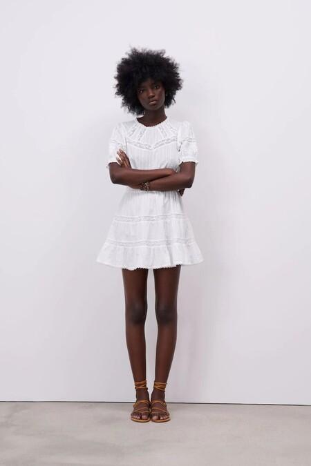 Vestido Blanco De Zara 3