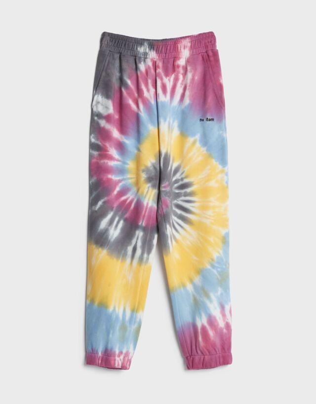 Pantalón con estampado tie dye.