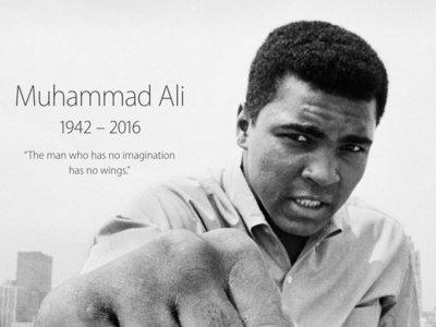 Apple homenajea a Muhammad Ali en la portada de su web oficial