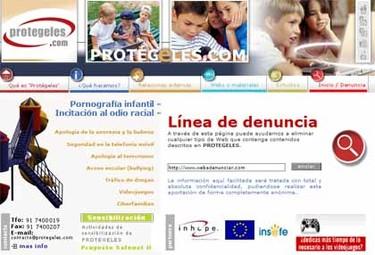 Protégeles: línea de denuncia sobre seguridad infantil en internet