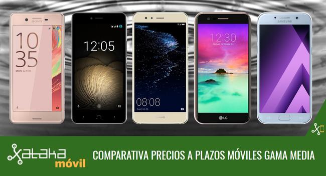 Comparativa Precios A Plazos Smartphones Gama Media