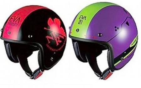 Casco de moto de Neon Genesis Evangelion