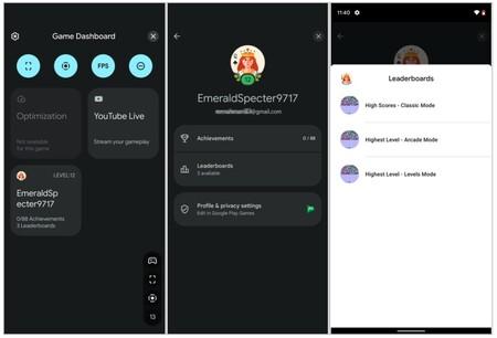 Google Play Juegos se integra con el panel de juegos de Android 12