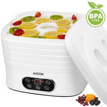 Cupón de descuento de más de 12 euros en el deshidratador de alimentos Aicok de 5 bandejas: aplicándolo cuesta 27,19 euros