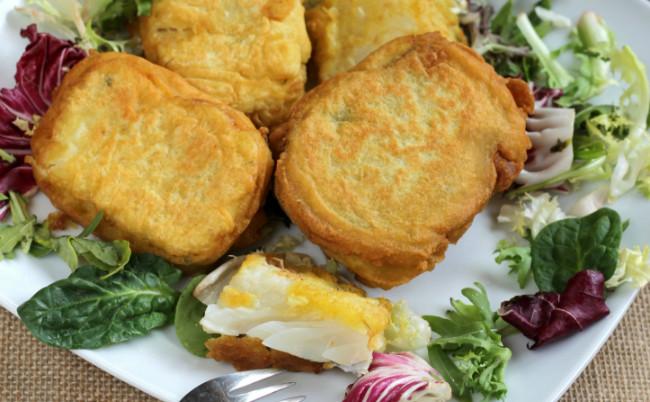 Tacos de bacalao rebozados o soldaditos de Pavía, receta de Semana Santa