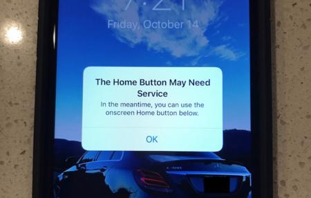 Así reacciona iOS cuando detecta que el botón Home del iPhone 7 no funciona correctamente