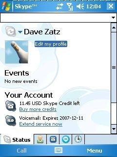 Skype for Windows Mobile 2.2