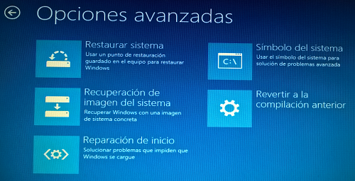 recuperar windows