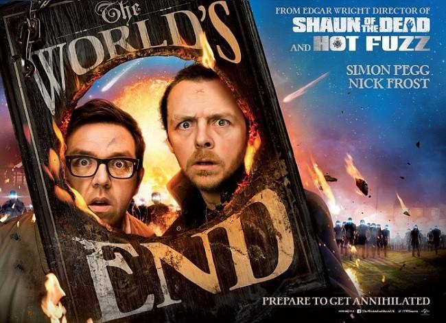 Imagen con el cartel de 'The World's End'