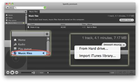 Spotify puede que permita reproducir archivos en local