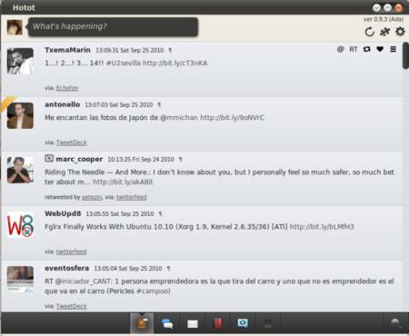 Hotot, un cliente genial de Twitter para Linux