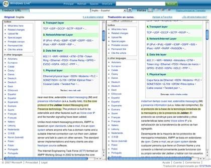 Windows Live Translator beta, el servicio de traducción online de Microsoft
