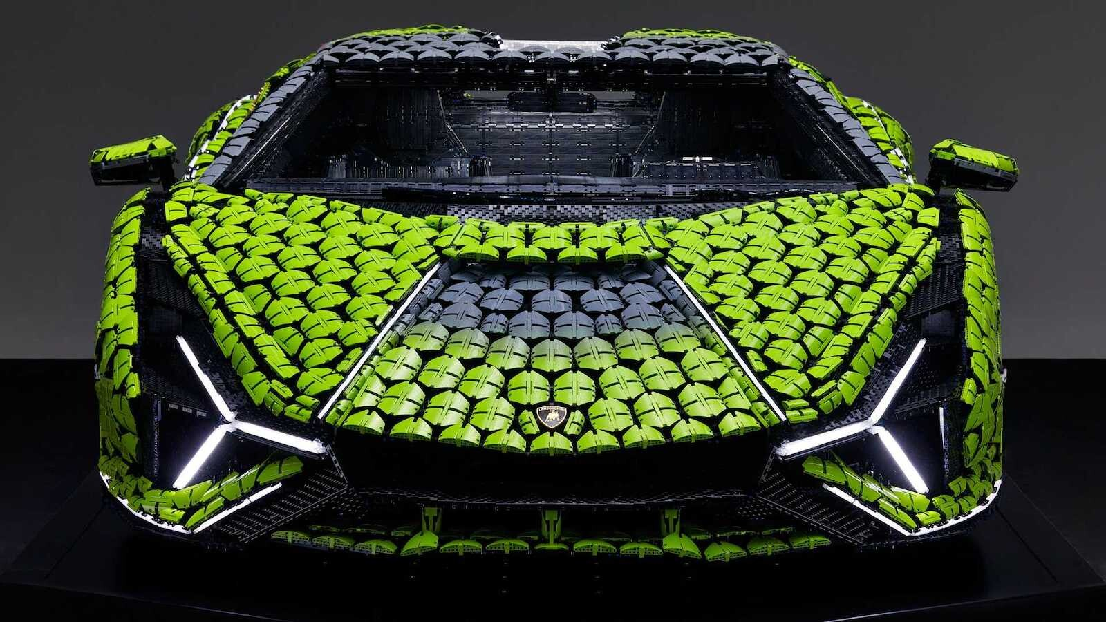 Lamborghini Sián Lego replica tamaño real