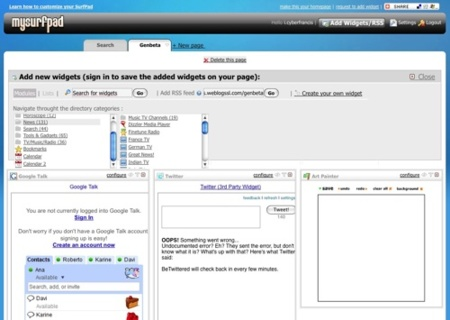Mysurfpad, otra página de inicio que entra en escena