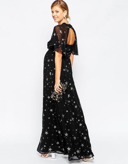 Prendas premamá llenas de brillo para la Nochevieja más fashion