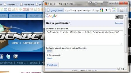 Comparte enlaces rápidamente por Google+ con este bookmarklet