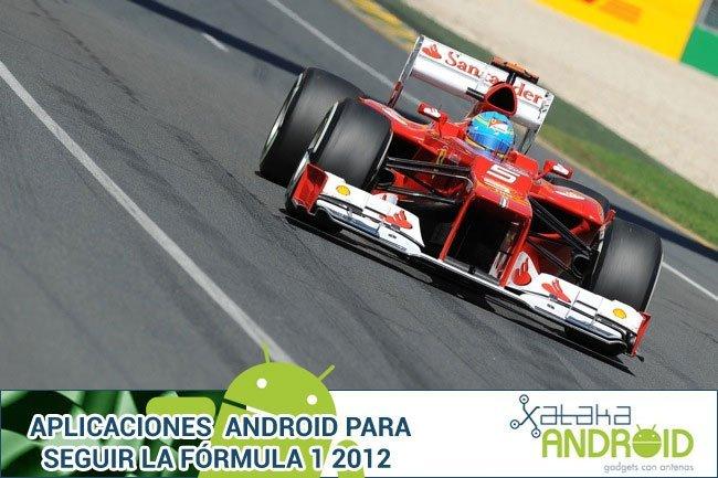Aplicaciones Android para la Fórmula 1 2012
