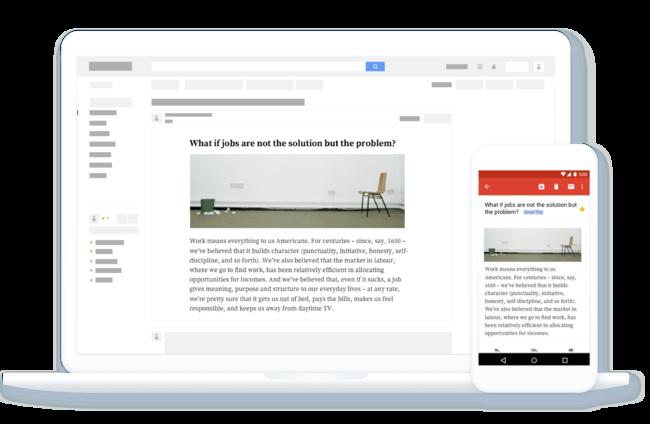Guarda artículos o páginas web en tu bandeja de entrada para leer después y sin distracciones