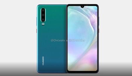 El Huawei P30 recupera el minijack en los últimos renders filtrados