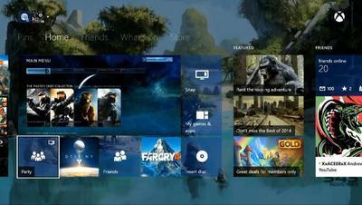 Xbox One podría contar pronto con tiles transparentes en su dashboard