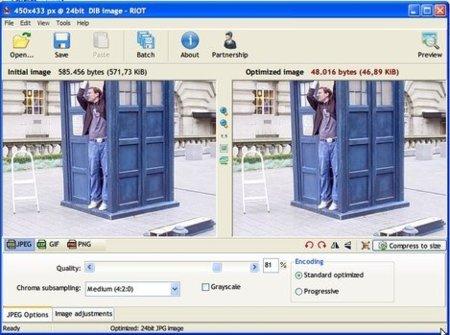 RIOT: optimizar imágenes rápida y fácilmente