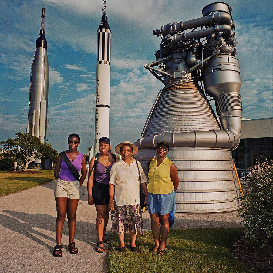 Family At Kennedy Space Center Cape Canaveral Fl