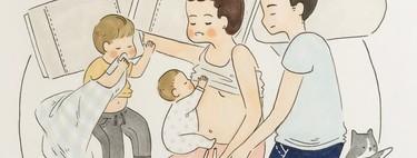 Preciosas ilustraciones de una madre de dos niños que reflejan la realidad de la maternidad