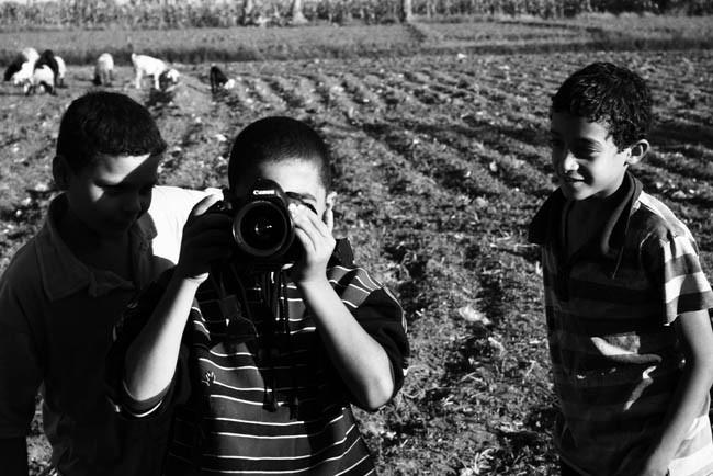 De fotografía antigua, niños y comunidades fotográficas