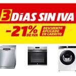 Tres Días sin IVA en MediaMarkt 2021: estas son las mejores ofertas en electrodomésticos
