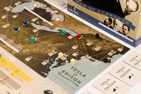 El juego de mesa sobre Tesla contra Edison