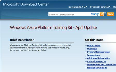 Cómo aprender a programar con Azure: Platform Training Kit - April Update