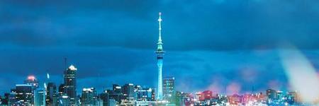 Sky Tower, desde las alturas de Auckland