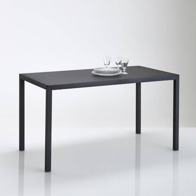 Mesa comedor de metal negro mate 4 plazas Hiba