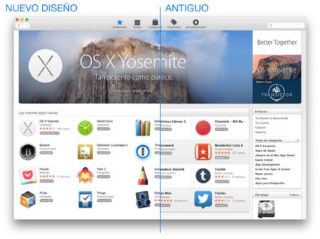 Apple actualiza el diseño de la Mac App Store a juego con OS X Yosemite