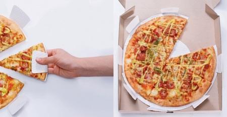 "Caja de pizza... con ""plato"" incorporado"
