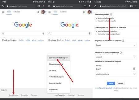 Language Google Search