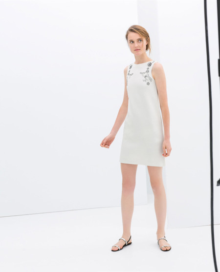 Zara blanco vestidos primavera 2014