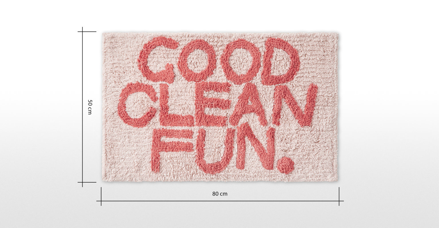 Good Clean Fun. Alfombrilla de baño 100% algodón Good Clean Fun, rosa