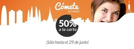50 % de descuento en 200 restaurantes de Madrid y Barcelona hasta el 29 de junio